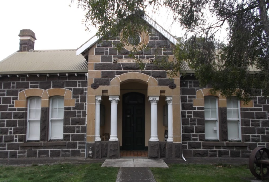 Old Meredith Shire hall - home of the Meredith History Interest group